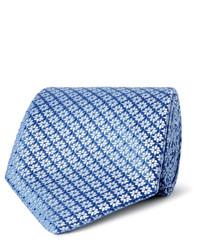 Cravate à fleurs bleue claire Charvet