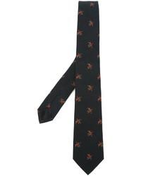 Cravate à fleurs noir Givenchy