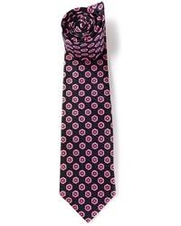 Cravate à fleurs noir Kiton