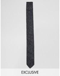 Cravate à fleurs noir Reclaimed Vintage