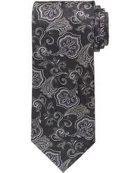 Cravate à fleurs noire