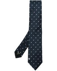 Cravate à motif zigzag bleu marine Neil Barrett