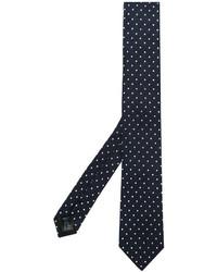Cravate á pois bleu marine Dolce & Gabbana