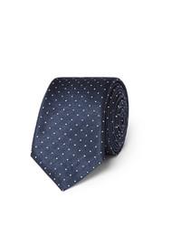 Cravate á pois bleu marine Lanvin