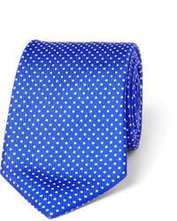 Cravate á pois bleue