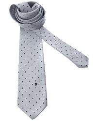 Cravate á pois grise Pierre Cardin