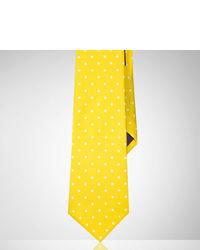 Cravate á pois jaune