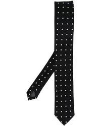 Cravate á pois noir Dolce & Gabbana