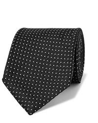 Cravate á pois noire et blanche Tom Ford