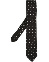 Cravate á pois noire Dolce & Gabbana
