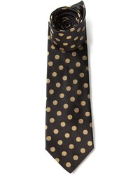 Cravate á pois noire Etro