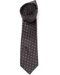 Cravate á pois noire Lanvin