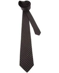 Cravate á pois noire Saint Laurent