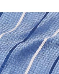 Cravate à rayures horizontales bleu clair Hugo Boss
