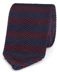 Cravate à rayures horizontales bleu marine