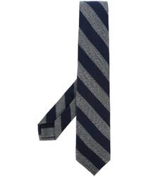 Cravate à rayures horizontales bleu marine Barba
