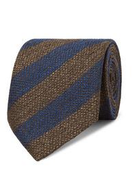 Cravate à rayures horizontales bleu marine Charvet