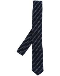 Cravate à rayures horizontales bleu marine Eleventy