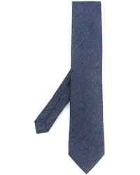 Cravate à rayures horizontales bleu marine Etro