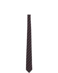 Cravate à rayures horizontales bleu marine Gucci