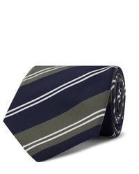 Cravate à rayures horizontales bleu marine Kingsman