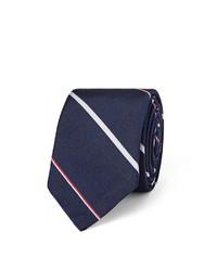 Cravate à rayures horizontales bleu marine Thom Browne
