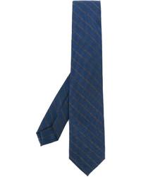 Cravate à rayures horizontales bleue Barba