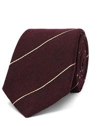 Cravate à rayures horizontales bordeaux Dunhill