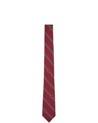 Cravate à rayures horizontales bordeaux Gucci