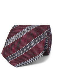 Cravate à rayures horizontales bordeaux Tom Ford