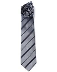 Cravate à rayures horizontales grise