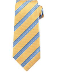 Cravate à rayures horizontales jaune