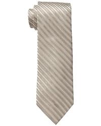Cravate à rayures horizontales marron clair