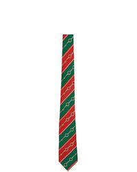 Cravate à rayures horizontales multicolore Gucci