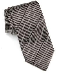 Cravate à rayures horizontales noire