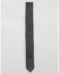 Cravate à rayures horizontales noire Asos