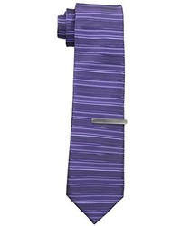 Cravate à rayures horizontales pourpre