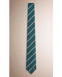 Cravate à rayures horizontales vert foncé