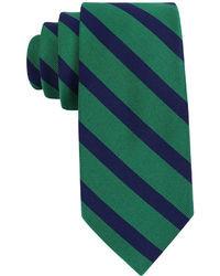 Cravate à rayures horizontales verte