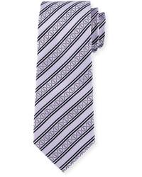 Cravate à rayures horizontales violet clair