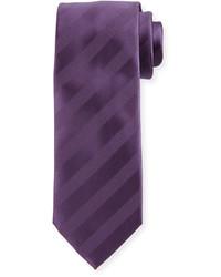 Cravate à rayures horizontales violette