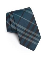 Cravate à rayures verticales bleu canard