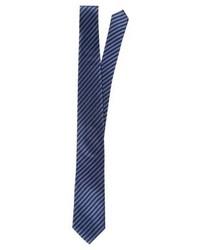 Cravate à rayures verticales bleu marine Eterna