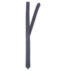 Cravate à rayures verticales bleu marine Olymp