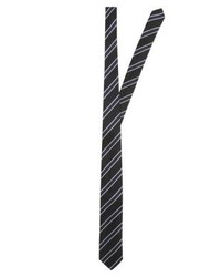 Cravate à rayures verticales bleu marine Tiger of Sweden