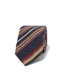 Cravate à rayures verticales bleu marine Turnbull & Asser