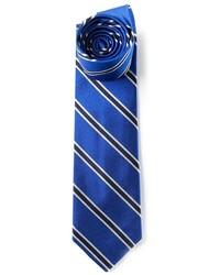 Cravate à rayures verticales bleu Polo Ralph Lauren