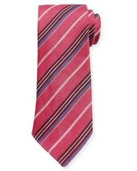 Cravate à rayures verticales fuchsia