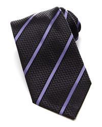 Cravate à rayures verticales gris foncé