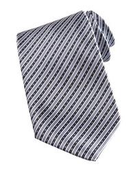 Cravate à rayures verticales grise